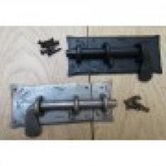Hand Forged Heavy Iron Door Gate Slide Bolt Lock Latch -Black Wax Finish-9 inch