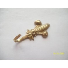 Prince of Wales brass curtain tie back hook
