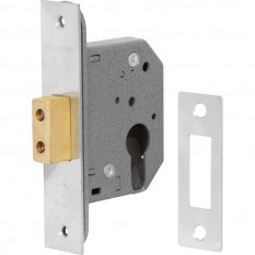 Euro Profile Deadlock 64mm Polished Brass