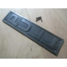 12'' Pull Plaque Finger Plate Antique Iron