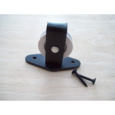 Black Single Type Washing Line Plate Pulley With White Nylon Wheel