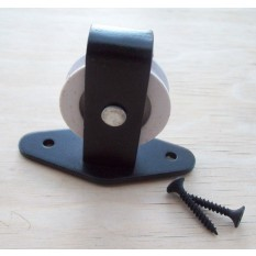 Single Black Plate Pulley