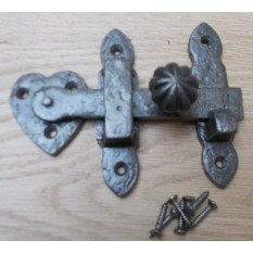 Pumpkin Knob latch Antique Iron