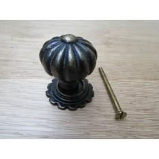 Pumpkin with Base Cabinet Knob Antique Brass