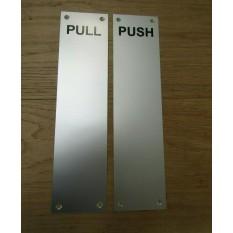 Satin Anodised Aluminium Pull Finger Plate