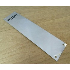 Polished Stainless Steel Push Finger Plate