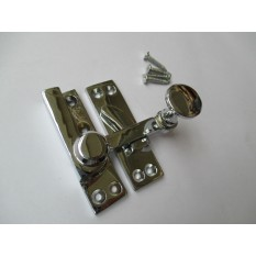 POLISHED CHROME-Victorian old style window fittings- QUADRANT ARM FASTENER