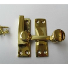 Quadrant Arm fastener Polished Brass