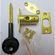 Brass Window Rackbolt & key