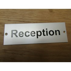 Rectangular Satin Aluminium Reception Door Sign