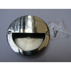 Polished Steel Large 90mm Recessed Handle