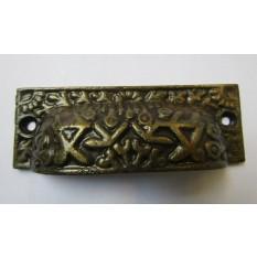 Rectangular Inca Cup handle Antique Brass on Iron
