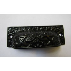 Rectangular Inca Cup handle Black on Iron