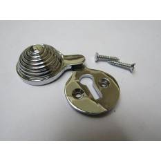 Beehive Covered Escutcheon Polished Chrome