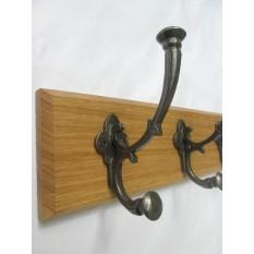 "Antique Iron 6"" Regal Coat Hook Rail"