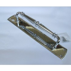 Regency Handle on Plate Polished Chrome 15""