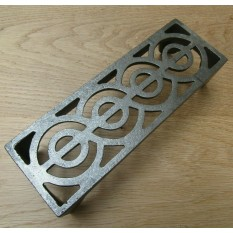 "9"" x 3"" Regency Scroll Air Brick Antique Iron"