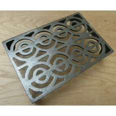 "9"" x 6"" Regency Scroll Air Brick Antique Iron"