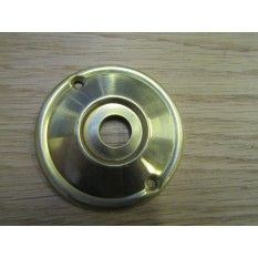 Space Replacement Rose Back Plate Natural Brass 60mm