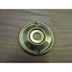 Space Replacement Rose Back Plate Natural Brass 55mm