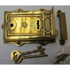 Solid Brass Construction Right Hand Davenport Lock Brass