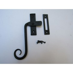 Handforged Curly Right hand Window Fastener Black Beeswax