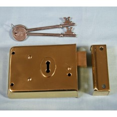 "4"" Rim Deadlock Polished Brass"