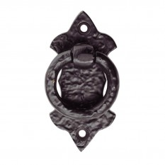 Ring Pull On Shield Handle Black Antique