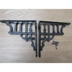 Pair Of Roman Column Shelf Brackets Antique iron