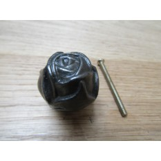 Rose Cabinet Knob Antique Iron