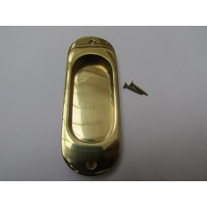 Round Edge Recessed Handle Polished Brass