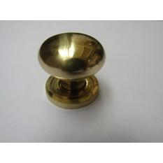Round Cabinet Knob Polished Brass