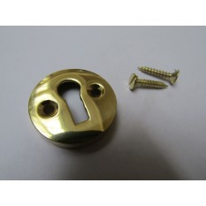 Victorian Open Escutcheon Polished Brass