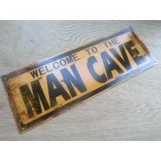 Rustic Steel Retro Man Cave Plaque