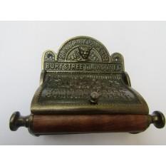 Bury St London Toilet Roll Holder Antique Brass