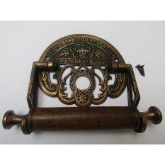 Crown Toilet Roll Holder Antique Copper