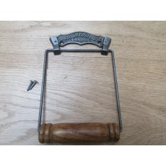 British Paper Co Toilet Roll Holder Antique Iron