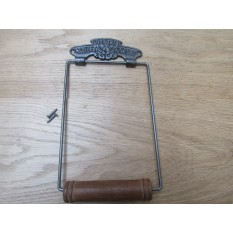 Large Victoria Toilet Roll Holder Antique Iron