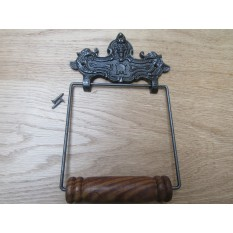 Lion Head Toilet Roll Holder Antique Iron