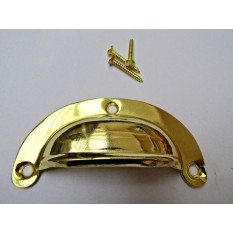 Lugged Pressed Steel Cup Pull Polished Brass