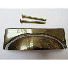 Rear Fix Rectangular Cup Pull Antique Brass