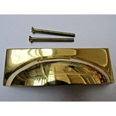 Rear Fix Rectangular Cup Pull Polished Brass
