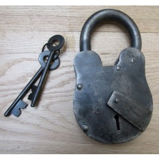 Cast Iron Padlock Antique Iron 8""