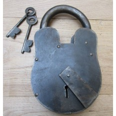Cast Iron Padlock Antique Iron 11""