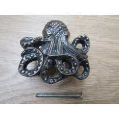 Octopus Knob Antique Iron