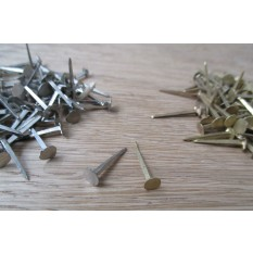 Pack of 10 door studs Polished Brass