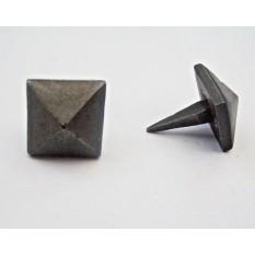 Pack of 10 Diamond Door Studs Antique Iron 20mm
