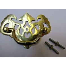 Drawer Pull Swing Handle Polished Brass