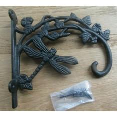 Dragonfly Hook Bracket Black Antique