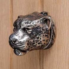 Cast Iron Metallic Leapord Door Knocker Antique Copper